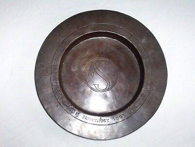 Arts & Craft copper Alms dish 1903 / 1904