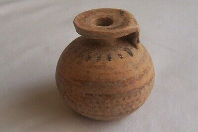 Ancient Greek pottery Corinthian Aryballos Athletes Flask for oil 7th - 6th B  C