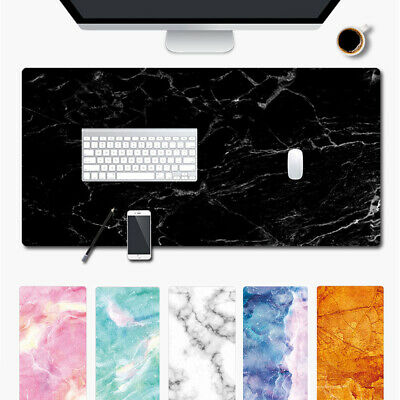 Marble Grain Computer Desk Large Mat Rubber Mouse Pad Keyboard Laptop Cushion