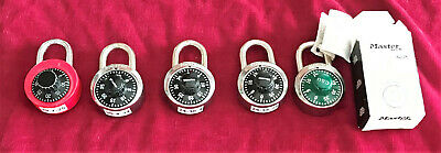 Group Of Five Combination Locks -Four  Master, One W/ Csu Logo, +1 Unbranded