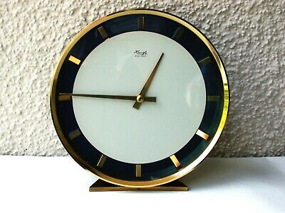 Kienzle Schwenningen Brass Electrik Table Clock ° Rare 60/70er Years Watch