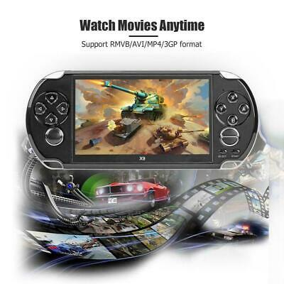 "X9 Mini Portable 5.1"" HD 128 Bit Handheld Video Game Player Retro Console Camera"