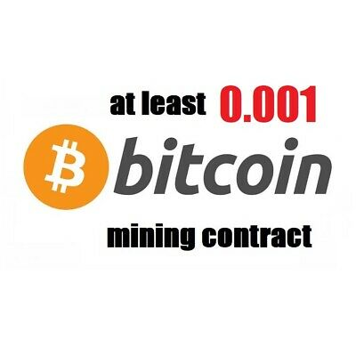 at least 0.001 Bitcoin (BTC) 6 hours Cryptocurrency mining contract