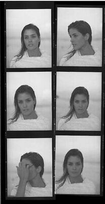 "*W578 LOT SALE OF 10 B/W 3"" NEGATIVES Sultry Sexy Magazine Model Woman Portrait"