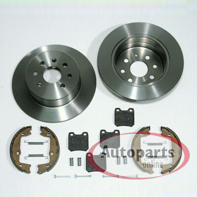 Vauxhall Combo 01-12 Pair of Rear Brake Discs 240mm solid 4 stud