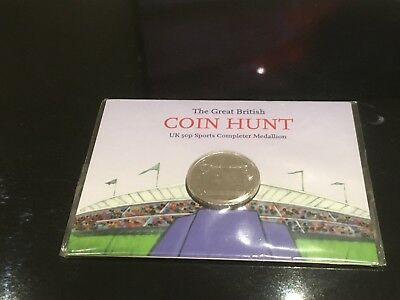 50p OLYMPIC SPORTS COLLECTION ROYAL MINT COMPLETER MEDALLION STILL SEALED LOT 1