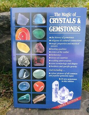 """""""The Magic of Crystals & Gemstones"""" Paperback Book By Topstones Crystal Healing"""
