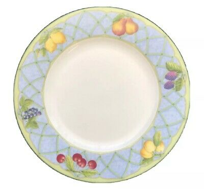 Mikasa Optima Fruit Rapture Super Strong China Salad Plate Lemons Cherries 8-1/4