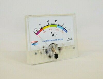 Active 12 Volt Lead Acid Panel Meter Battery Charge Capacity Indicator