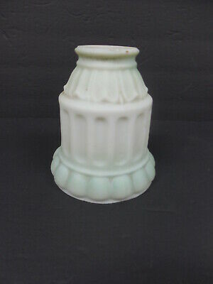 Vintage Decorative Frosted Mint Green Milk Glass Ceiling Lamp Light Shade  *