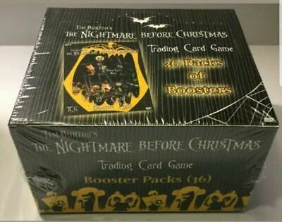 Tim Burton's The Nightmare Before Christmas TCG 36 Booster Pack Box Sealed New