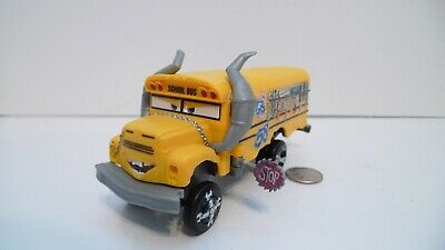 "Disney Pixar Movie Cars 3 Plastic Crazy 8s Miss Fritter School Bus 6"" !!!"