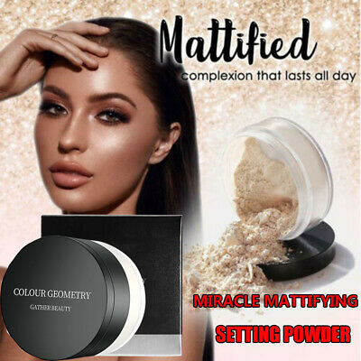 Miracle Mattifying Setting Powder Face Gather Face Loose Powder Oil-control HQ