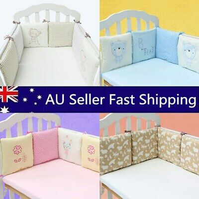 Baby Crib Bumper Soft Infant Toddler Cotton Bed Cot Protect Nursery Bedding Sets