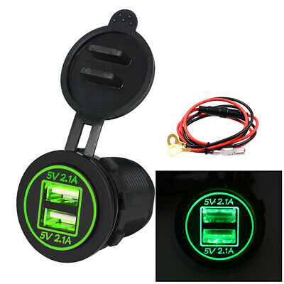 Powerlet PAC-075 Waterproof Dual USB 2.1v Charger Euro Size BMW Plug