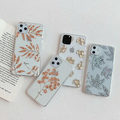 Plating Gold Leaf Pineapple Soft Clear Case Cover For iPhone 11 Pro Max XR XS X