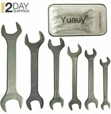 Bicycle Cone Wrench Repair Tools Set 10 in 1 SILVER P0 BLBDSN Nice BE