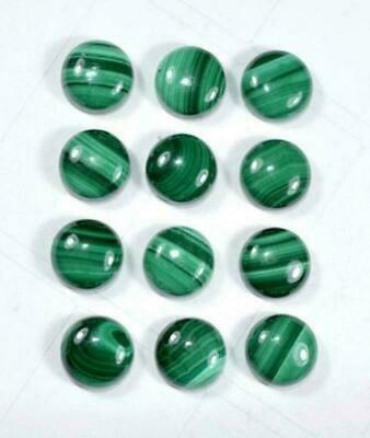 11X11 MM Natural Top Malachite  Round Loose Cabochon Gemstone GW-227