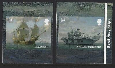 Great Britain 2019 Royal Navy Ships Self Adhesive Booklet Pair Fine Used