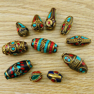 Turquoise Cinnabar Nepal Tibetan Loose Beads Jewelry Making Buddha Strand Spacer