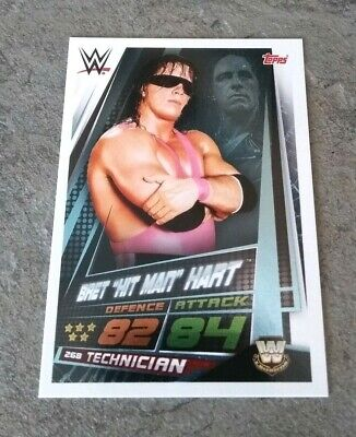 WWE Slam Attax Universe Bret Hitman Hart Star of the show card number 268 Topps