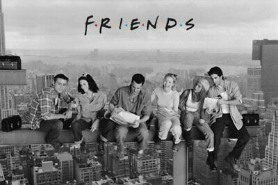 New - FRIENDS TV Show Lunch on a Skyscraper Art Poster Print 24 x 36