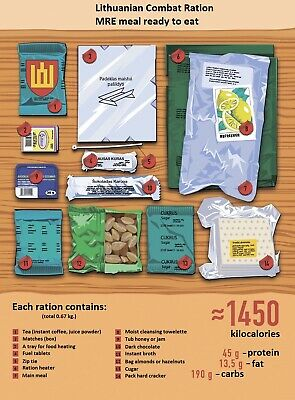 Lithuanian Army Food MRE Military Ration Daily Pack Survival Meal 2021.05