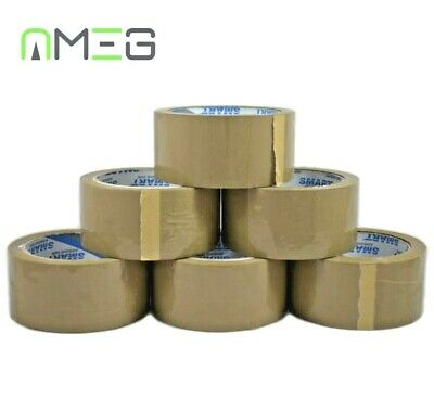 Brown Buff Tape Parcel Packing Packaging Cellotape Box Sealing 48MM x 45M Rolls