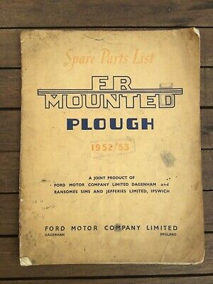RANSOMES FR MOUNTED PLOUGH FORDSON TRACTOR MANUAL BROCHURE HANDBOOK 1950s
