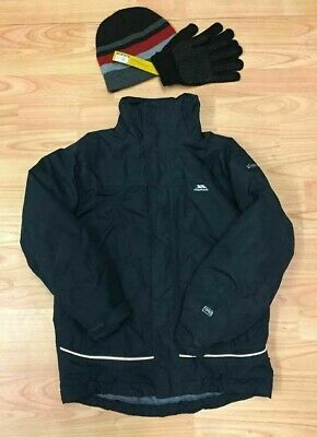 Boys Trespass TP50 Winter School Coat age 7/8. Waterproof Padded Quilted Lined