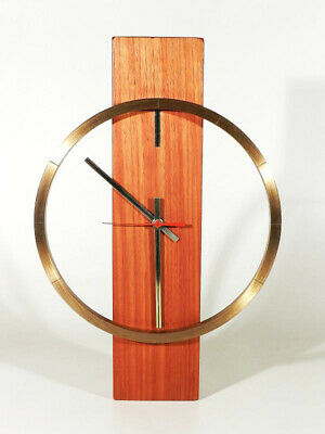 Kienzle Schwenningen Beech Wood Brass Wall Clock ° Design after Heinrich Möller