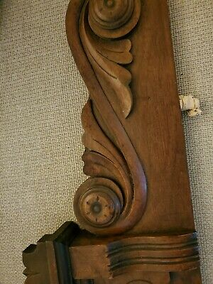 Antique American carved pediment. Was top of American carved walnut armoire.