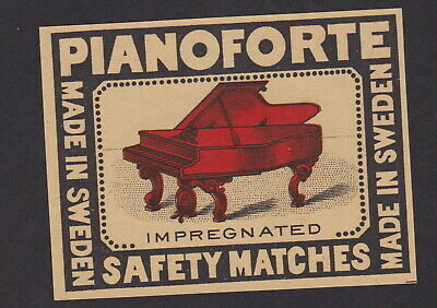 Old Matchbox label packet  Sweden BN80539 Piano Forte