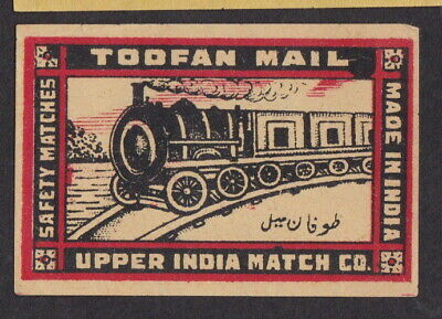 Old Matchbox label India BN80553 Toofan Mail Locomotive