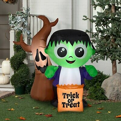 Halloween Airblown Inflatable 5 ft. Monster and Spooky Tree Scene by Gemmy Indus