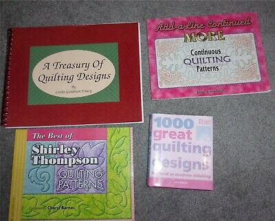 4 Machine Quilting Books