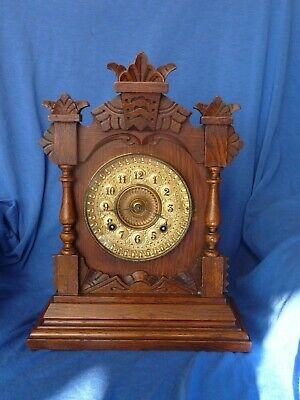Antique Ansonia 8 Day Tivoli Mantle Clock - Working