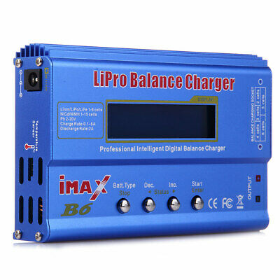 iMAX B6 80W LCD Digital RC Lipo LiFe NiMH NiCd Battery Balance Charger Adapter