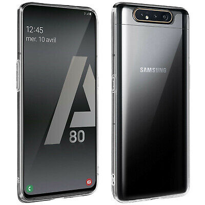 Back case + Screen Protector Tempered Glass Clear Samsung Galaxy A80