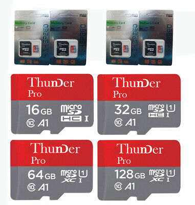 Thunder Micro SD 16/32/64/128GB SDHC Memory Card TF Mobile Phone Class 10 80MB/s
