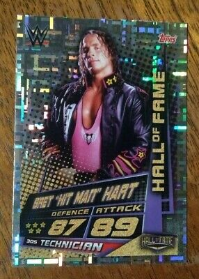 WWE Slam Attax Universe Bret Hitman Hart, Hall of Fame card number 305