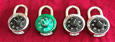 Group Of Four Combination Locks -Master Locks With Combinations