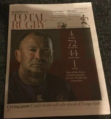 The Telegraph Newspaper  Rugby World Cup Japan 2019 Special 16 Page Pullout.