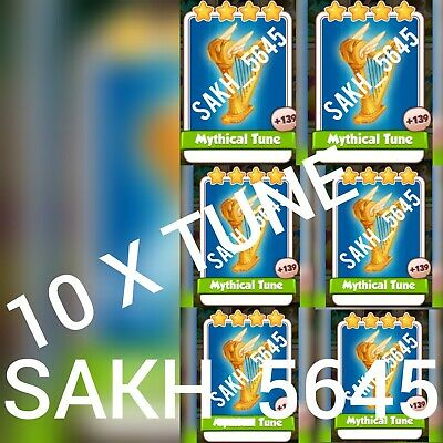 10 x Mythical Tune :- Coin Master Cards ( Fastest Delivery )