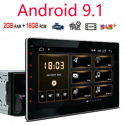 "10.1"" HD Android 9.12 Din GPS Stereo Radio Player Wifi 3G/4G Car navigation"