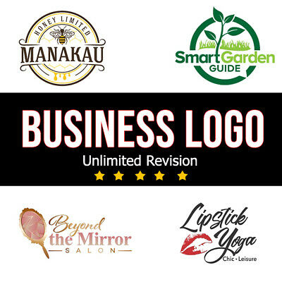 Professional Custom Logo Design + Business Logo+ Unlimited Revision + Graphics