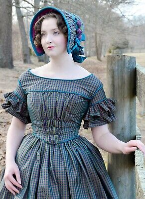 M7988 Sewing Pattern Costume Civil War Era 1860's Dress Lined 18th Century