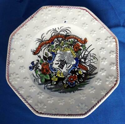 Staffordshire Pottery  Pearlware Political Satire Corn Law Antique Plate