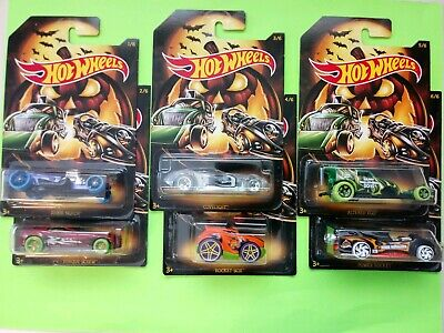 NEW Hot Wheels 2019 Halloween Edition Holiday Series Complete Set of 6 Cars