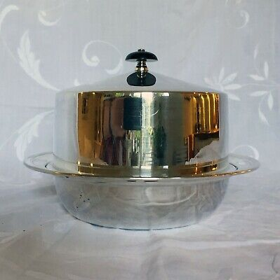 Antique Silver Plated EPNS Muffin Dish Food Warmer Serving Plate & Lid & Liner